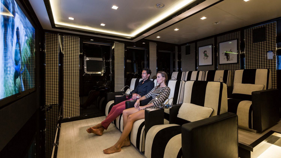 Axioma yacht media room