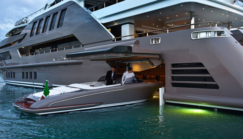 Jade Superyacht garage