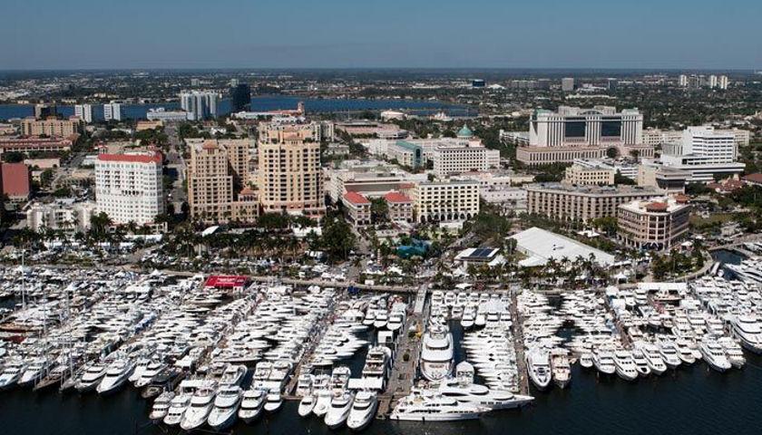 Palm Beach Intl Boat Show aerial
