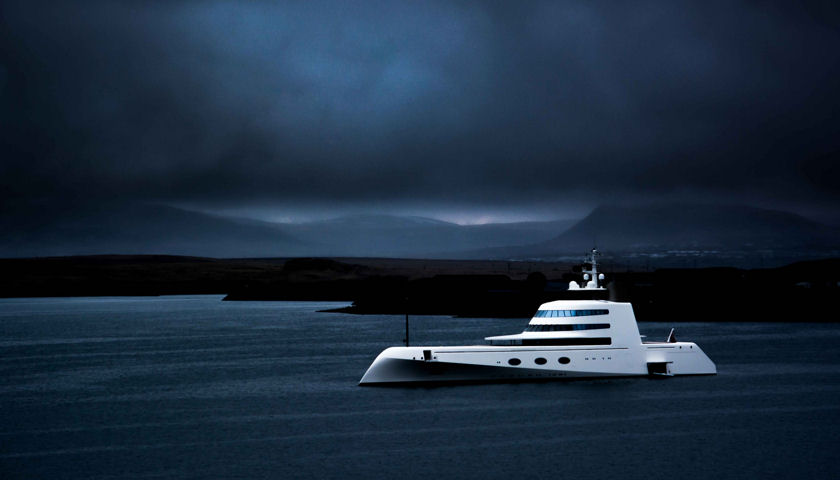 Motor Yacht A in Reykjavik Iceland