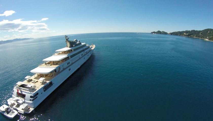 RISING SUN superyacht Santa Margherita Ligure aerial