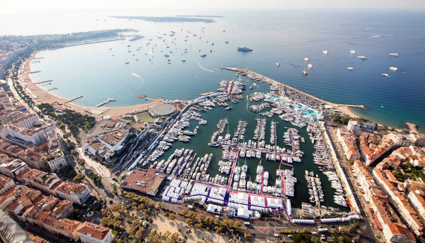 Cannes Yachting Festival aerial