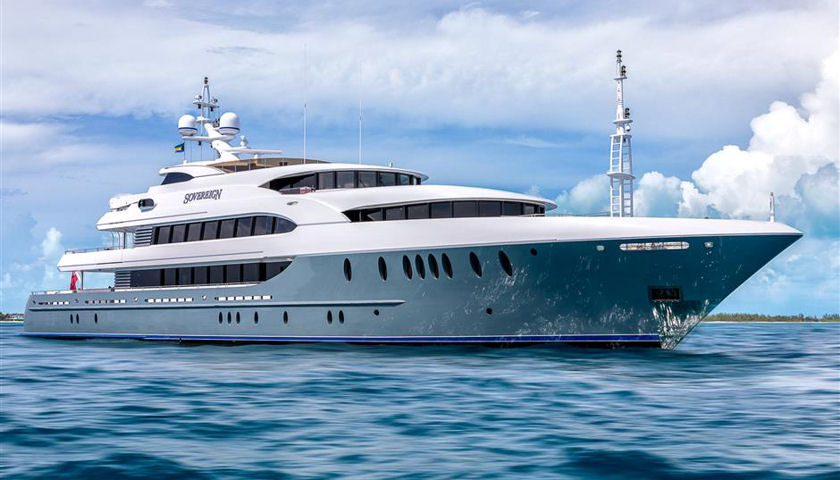 Sovereign superyacht exterior