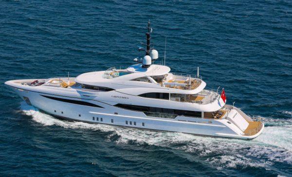48m/157ft Superyacht Nerissa's Unique Design by Bilgin