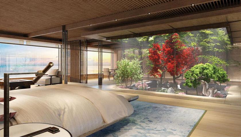 Nature superyacht bedroom