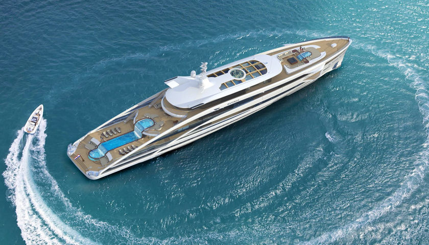 superyacht Project Maximus aerial view