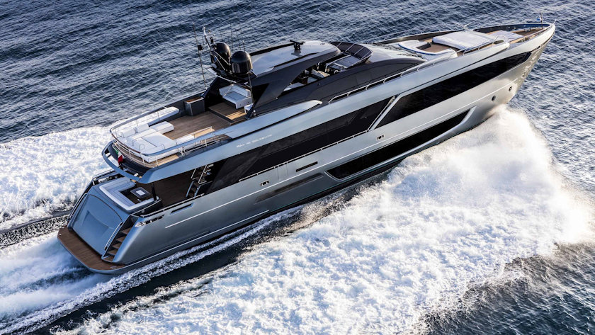Riva 110' Dolcevita aerial view