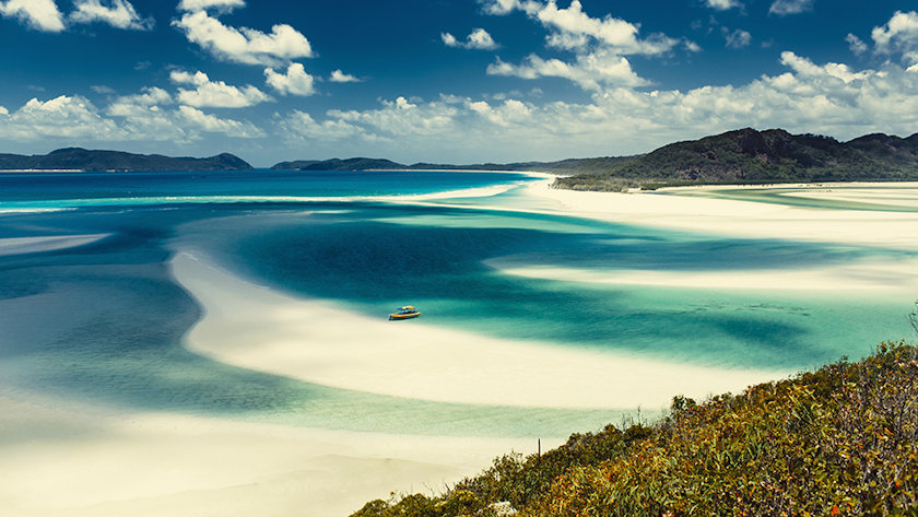Whitehaven Beach in the Whitsundays Archipelago, Queensland, Australia