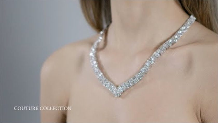 Crown of Light diamond necklace