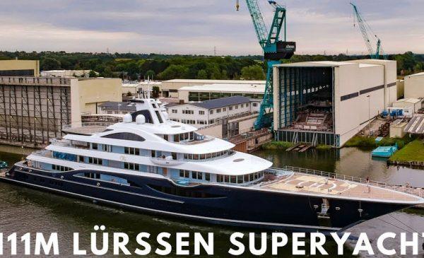 Lürssen 111m Superyacht Project TIS Begins Sea Trials