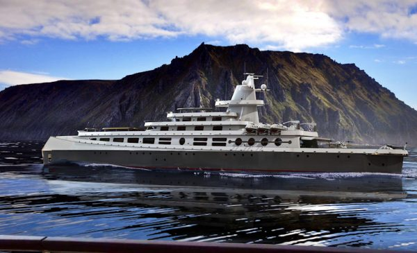 Grace, An Expedition Yacht Design Concept by Steve Kozloff