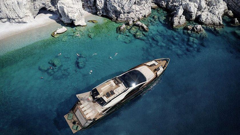 Azimut S10 yacht aerial