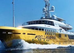 BELLAMI's $20 Million Golden Superyacht Sets Sail for the Mediterranean