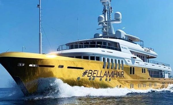BELLAMI's $20 Million Golden Superyacht Sets Sail for the Mediterranean