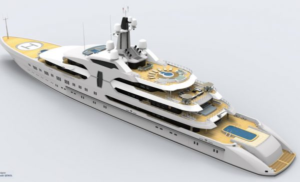 New 120m/393ft Superyacht Concept by Abdulbaki Şenol