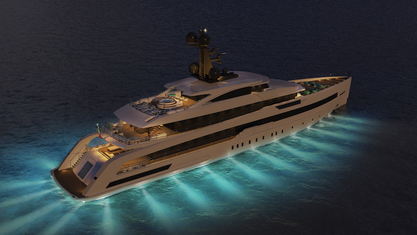 CRN 138 yacht - NIGHT VIEW